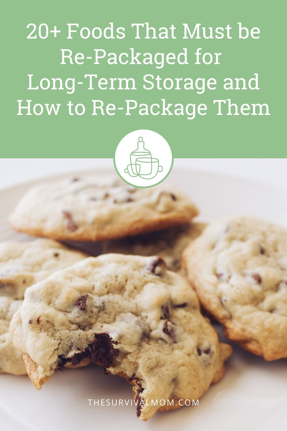 20+ Foods that must be re-packaged for long-term storage and how to repackage them via The Survival Mom