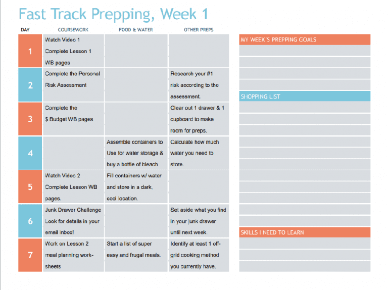 image: prepping planner